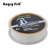 100M 1.0 2.0 Number Braided Fishing Line Super Strong PE Line Professional Fishing Line For Fishing Enthusiast White drop shippi