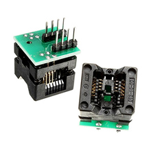 Free shipping SOIC8 SOP8 to DIP8 EZ Socket Converter Module Programmer Output Power Adapter With 150mil Connector