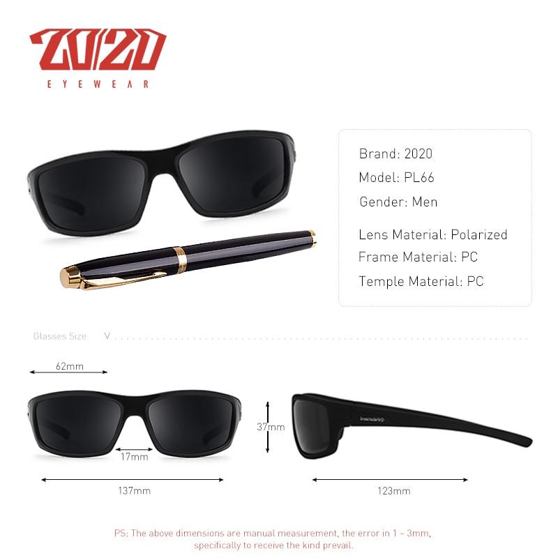 20/20 Optical Brand Design New Polarized Sunglasses Men Fashion Male Eyewear Sun Glasses Travel Fishing Oculos PL66 With Box 1