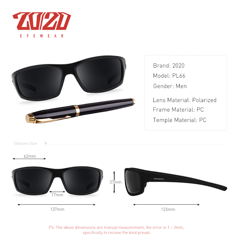 Best Fishing Sunglasses 2020 20/20 Optical Brand Design New Polarized Sunglasses Men Fashion
