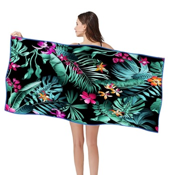 160*80cm Beach Towels 3D HD Printed Beach Swimming Ultralight Towel Quik Dry Sand Free Beach Towel Multifuntion Poncho Towel 1
