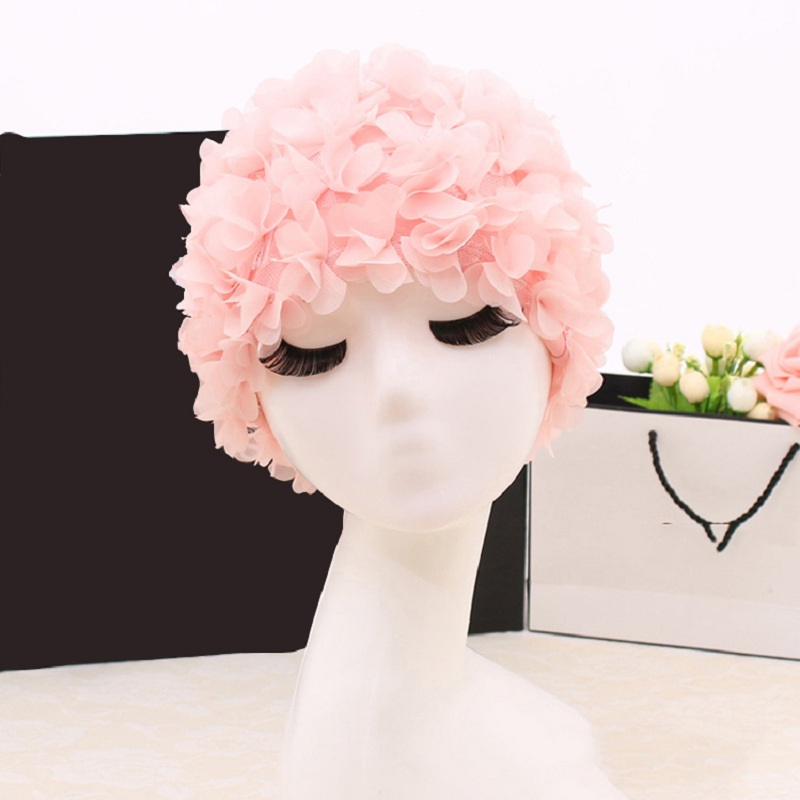 Fghgf 2018 Lily Flowers Women Swimming Cap Coloful Sports Swim Pool Women Elastictry Beautiful Hat Cap Free Size Design 17