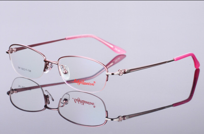 New fashion women customized myopia glasses alloy half-rim optical frame prescription glasses mopia eyeglasses reading glasses(China)