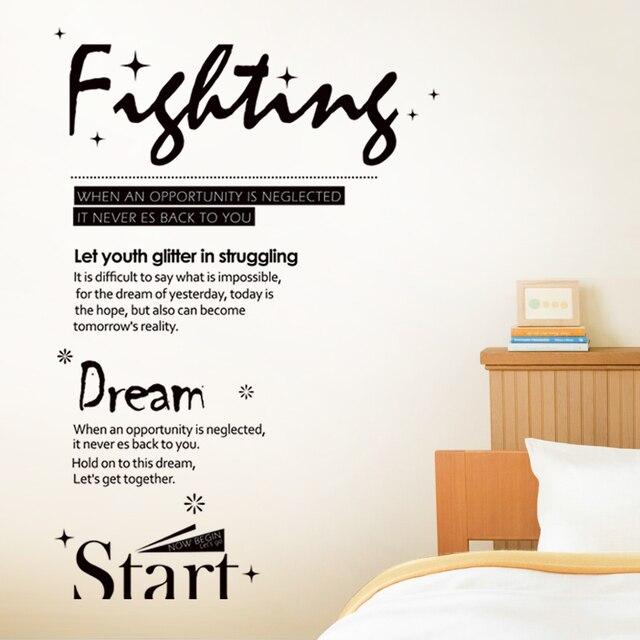 Pvc Removable Stiker Dinding R Tidur Ruang Tamu Asrama Inspirational Kata Dalam Bahasa