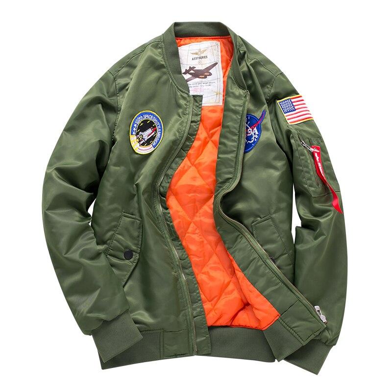 Freelee fashion new Men top military army green motorcycle letterman air force Windbreaker jacket pilot bomber flight jacket