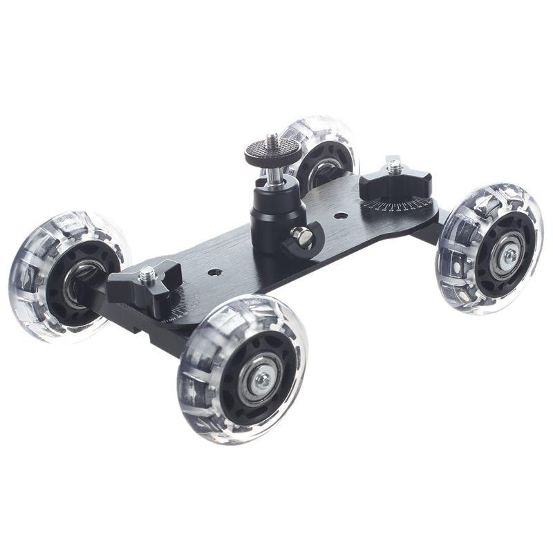 Настольный компактный мини-штатив с автомобильной камерой для Canon Nikon Sony Digital SLR DSLR (черный)