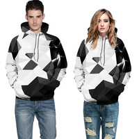 2018 Spring Colorful 3D Hoodies Men Diamond Print Sweatshirts Unisex Hoody Fashion Big Pocket Loose Pullover
