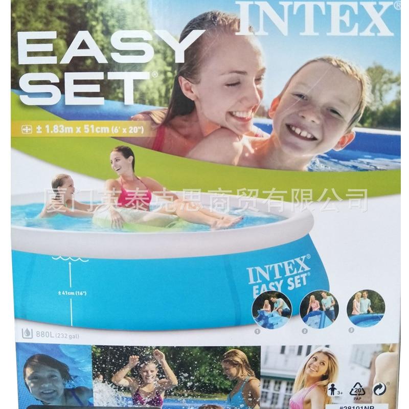 183cm familj uppblåsbar pool över marken pool barn vuxna barn blå - Vattensporter - Foto 2