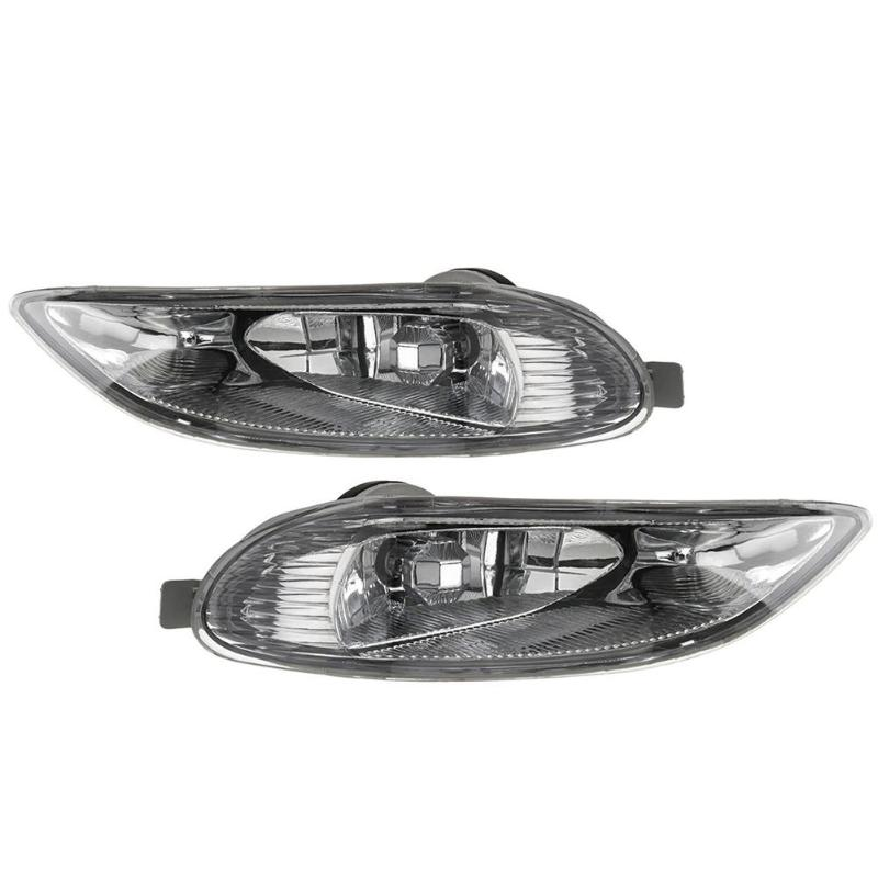 1 Pair Front Fog Bumper Lights w/ Bulb for Toyota Camry 02-04 Corolla 05-08 Front Bumper Driving Fog Grill Lights Car Styling car styling fog lights for toyota camry 2012 2014 pair of 12v 55w front fog lights bumper lamps daytime running lights