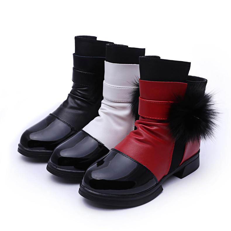2017 Hot sale New fashion winter children s shoes girls Wear resistant non slip snow boot
