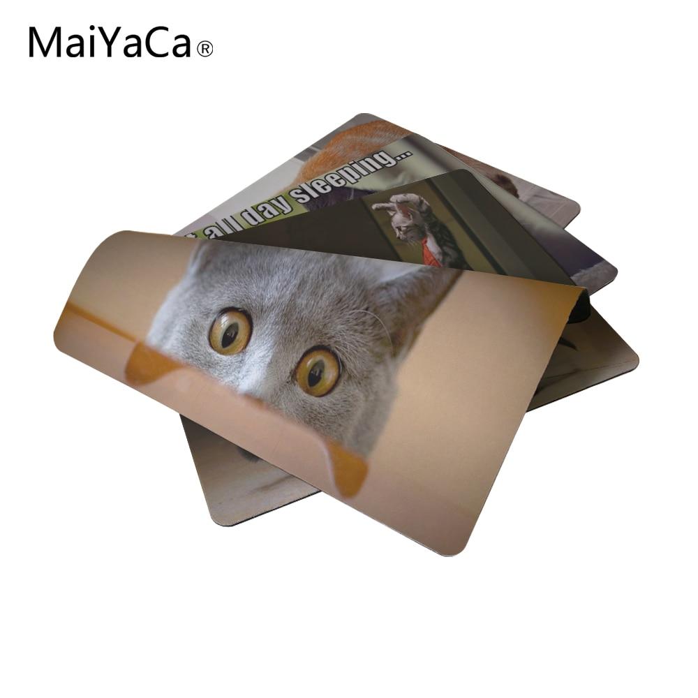 MaiYaCa Animales divertidos Gatos Nuevo tamaño Alfombrilla para - Periféricos de la computadora - foto 1