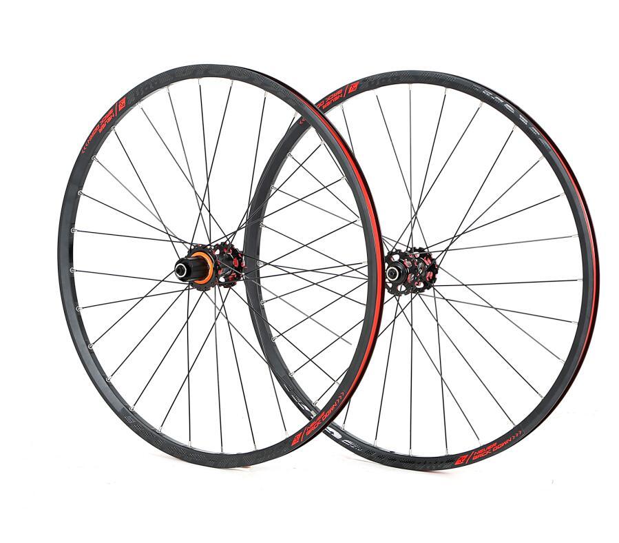 JK MTB Mountain Bike 26 polegada 27.5 polegada Rodas De Fibra De Carbono com Rolamentos Selados 29 Rodado Roda de bicicleta Aro de Liga Leve QR/ thru-eixo