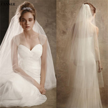 Canner Women White Ivory Wedding Veils 2-layer Bridal Veil Cheap Accessories Tulle With Comb