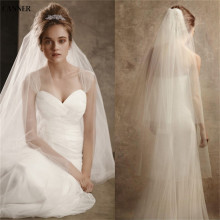 Canner Women White Ivory Wedding Veils 2-layer Bridal Veil Cheap Weddi