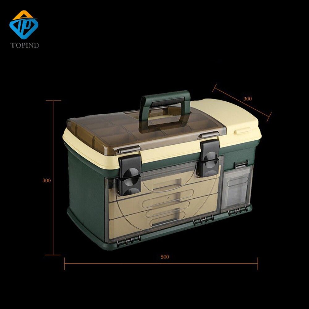 550*300*300mm PP + PC + TPE Große Angelgerät Box High Quality TPE Griff Fischerei Box Karpfenangeln Tools Zubehör - 4