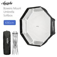 Godox 80 cm Montagem de Bowens Octagon Softbox Guarda-chuva suave caixa com Montagem de Bowens para Bowens Monte o Flash de Estúdio Luz