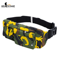 Camouflage Sports Gym Running Bags Waist Packs Cell Phone Belt Wallet Outdoor Waterproof Nylon Shoulder Bag