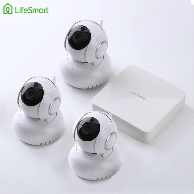 Lifesmart kit domótico domótica wifi control remoto hd 720 p cámara ip con centro inteligente sistema de seguridad de la estación acceso
