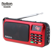 Rolton W405 Portable Mini FM Radio Speaker USB MP3 Music Player TF Card Subwoofer Radio Torch Lamp with LED Display lefon digital fm radio media speaker mp3 music player support tf card usb drive with led screen display and time shutdown