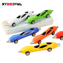 1 Pcs Funny Novelty Design Ballpoint Pen Racing Car Child Kids Toy Gift Shape Office Child Kids Toy Drawing Toys Flexible Wheel