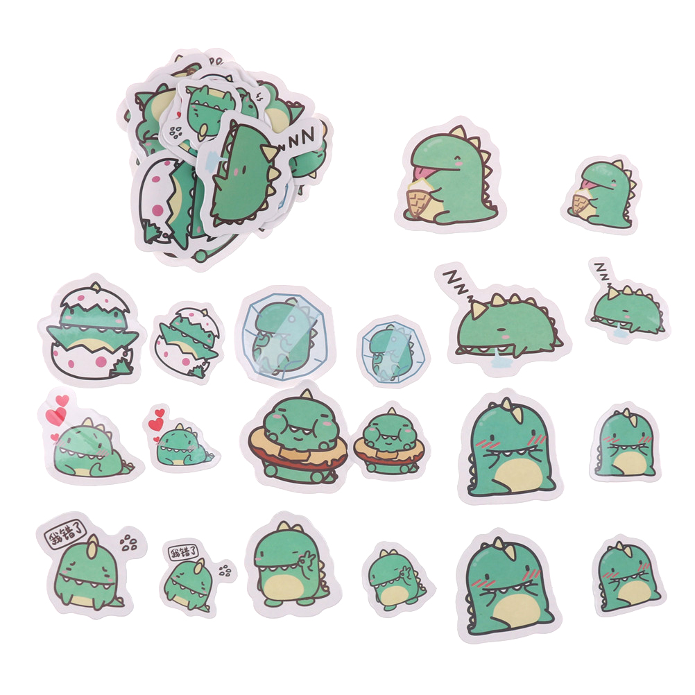 Stationery Stickers 40pcs/pack Little Green Dragon From Star Moly Stickers Cute Animals Diary Sticker Scrapbook Decoration Pvc Stationery Stickers Aromatic Flavor