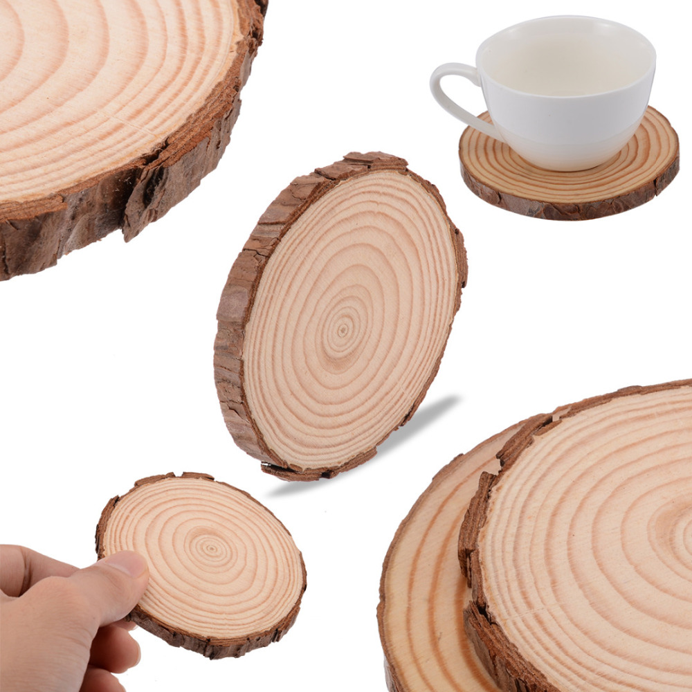 Coffee Mug Slice-Cup Drinks-Holder Round Coaster Wedding-Party-Decoration Diy-Crafts