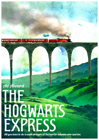 Hogwarts Magic  Welcome to Diagon Valley Propaganda Vintage Kraft Decorative Poster