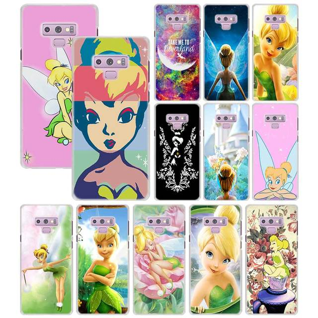 new concept 4b265 bfdfe US $2.24 25% OFF|Tinkerbell Tinker Bell Phone case for Samsung Galaxy Note  9 8 5 S9 S8 Plus S6 S7 edge S5 PC Mobile phone bag case-in Half-wrapped ...