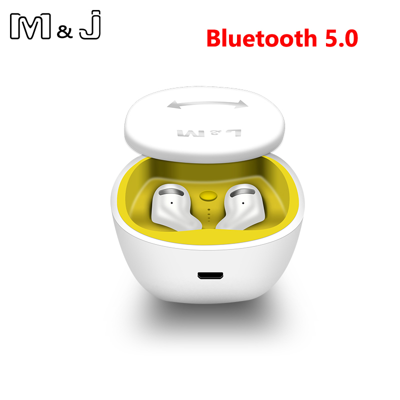 M&j Bluetooth 5.0 Earbuds Tws Wireless Headsets Mini 3d Stereo Earphones Hifi Sound Sport Ipx5 Hd Mic Handsfree For All Phone Big Clearance Sale