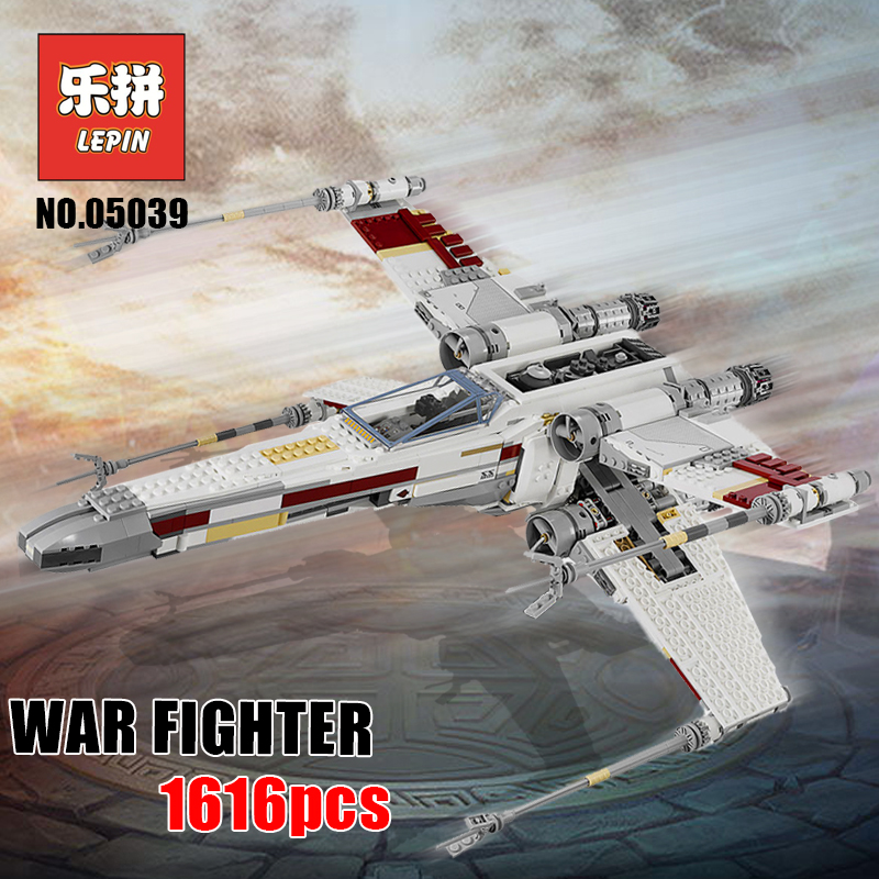 Lepin 05039 Star Plan Wars UCS the Red Five X wing Starfighter Compatible Legoinglys Starwars 10240 Building Blocks Kids Toy