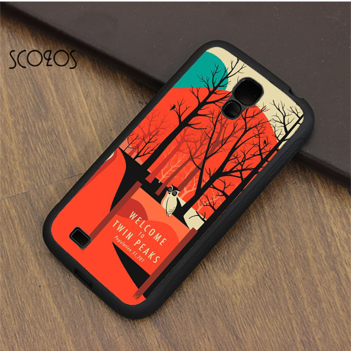 SCOZOS TWIN PEAKS TRAVEL POSTER phone case cover for samsung galaxy S3 S4 S5 S6 S7 S8 S6 edge S7 edge note 3 note 4 note 5