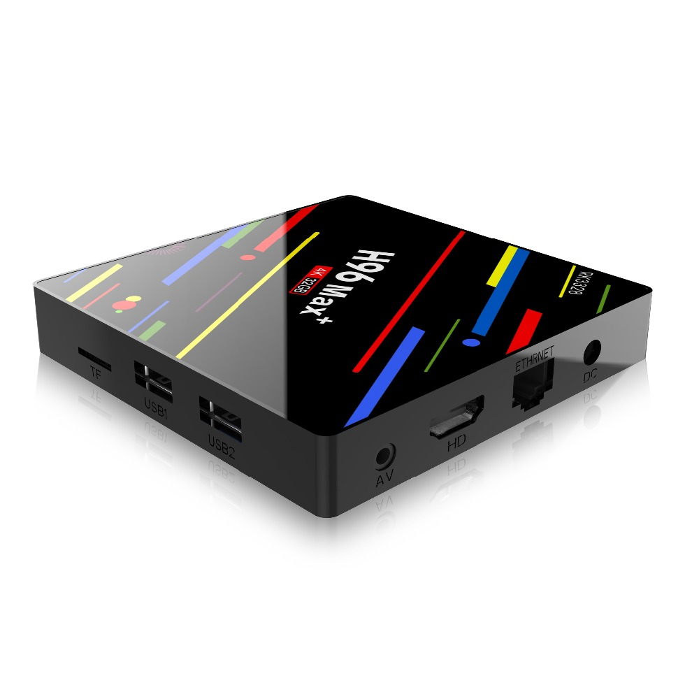 H96 MAX PLUS Smart TV BOX Android 9.0 OS 4GB RAM 32/64GB ROM RK3328 Quad Core 1080p 4K H.265 WiFi 2.4G/5G BT4.0 Set Top Box-in Set-top Boxes van Consumentenelektronica op  Groep 2