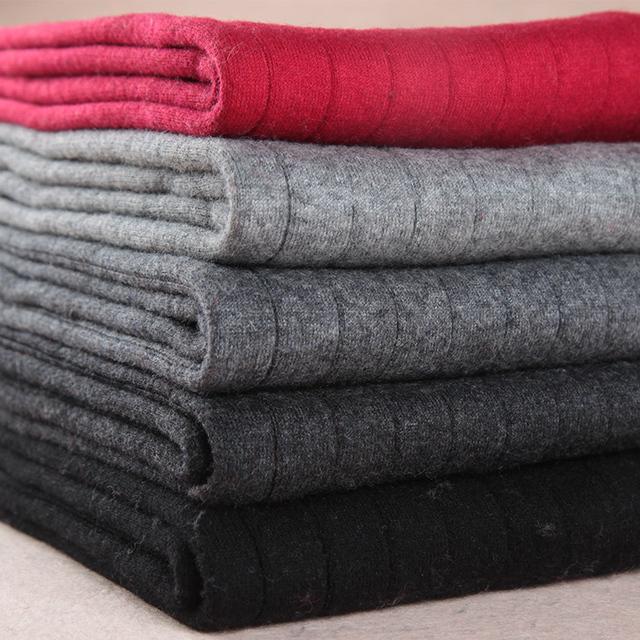 2016 Otoño Y el Invierno de Las Mujeres de Moda Polainas Calientes Elásticos Femeninos Pantalones Casuales Las Mujeres de Moda Rojo Gris de Cachemira Pantalones de Crucería