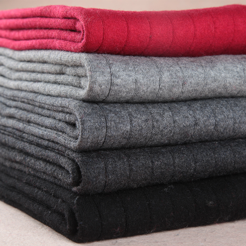 Women's Autumn And Winter Trendy Warm Leggings Female Elastic Cashmere Casual Pants Women Red Grey Fashion Ribbed Pants