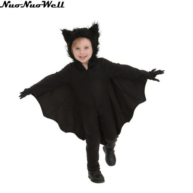 Halloween Children Vampire Costume Black Evil Bat Womans Jumpsuit Masquerade Carnival Boys Cute Role Playing Vampire Jumpsuit