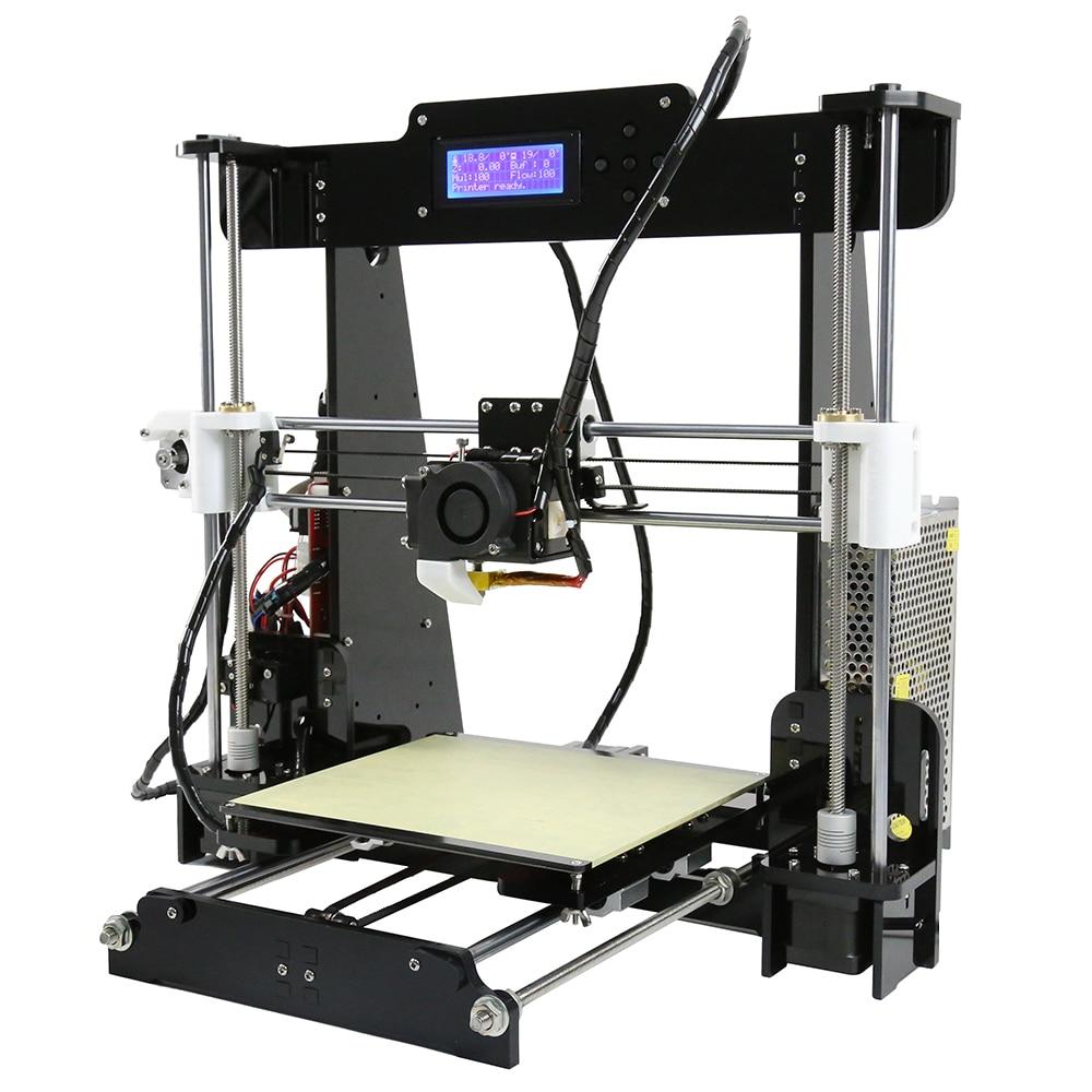 Anet A8 Prusa i3 reprap Imprimante 3d haute précision Imprimante 3D bricolage/8 GB SD plastique plus de couleurs/expédition express de moscou