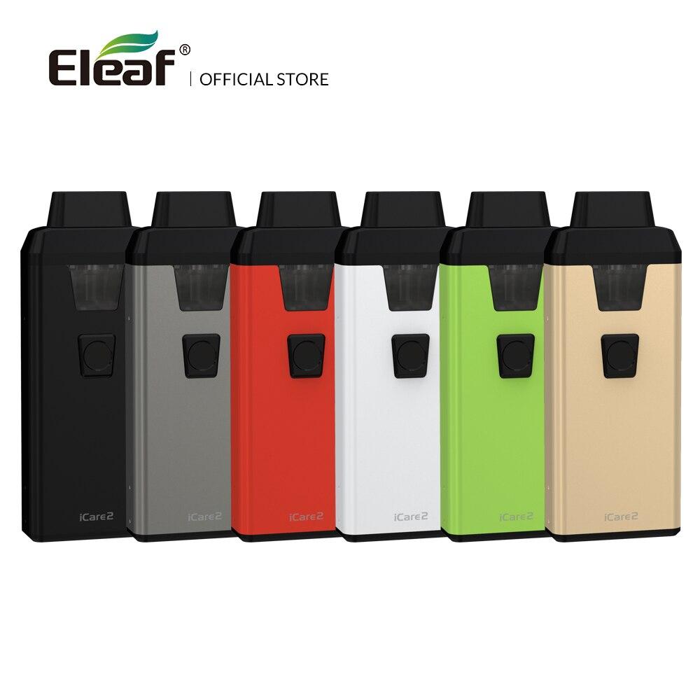 Kit d'origine Eleaf iCare 2 entrepôt avec batterie 650mAh intégrée 2mL atomiseur IC 1.3ohm tête bobine cigarette électronique