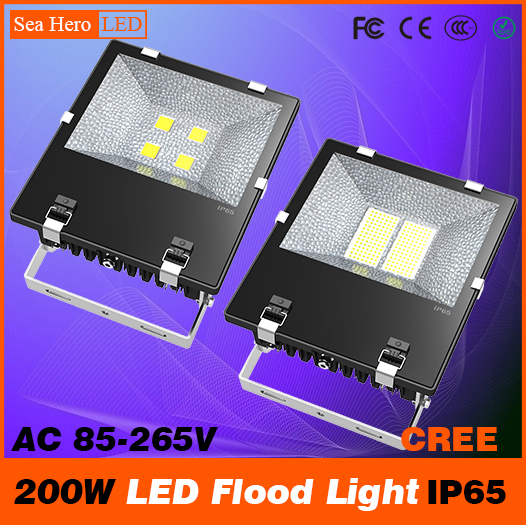200W LED Flood light Bulkhead lamp spotlightl Industrial lighting 100-128degree IP65 AC 85-265V Cree chips COB or XPG/XPE ultrathin led flood light 200w ac85 265v waterproof ip65 floodlight spotlight outdoor lighting free shipping