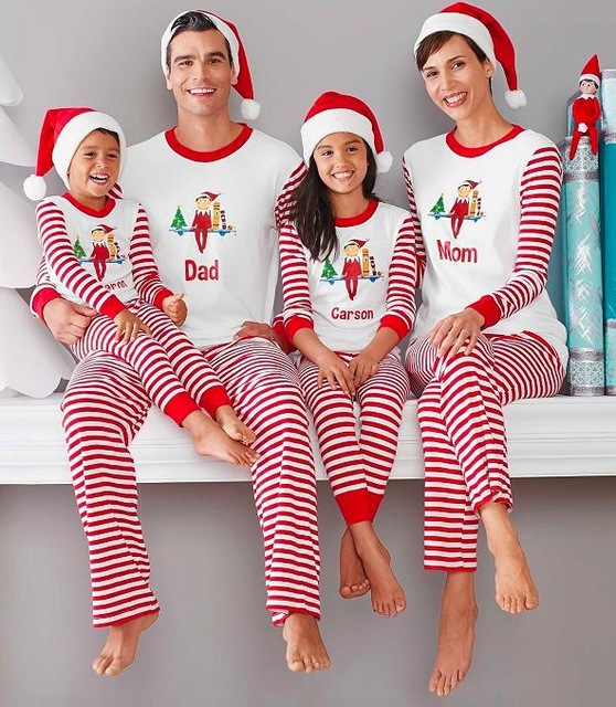 48084a2cf780 Mother   kids matches family christmas pajamas for couples father son  mother and daughter matching clothes