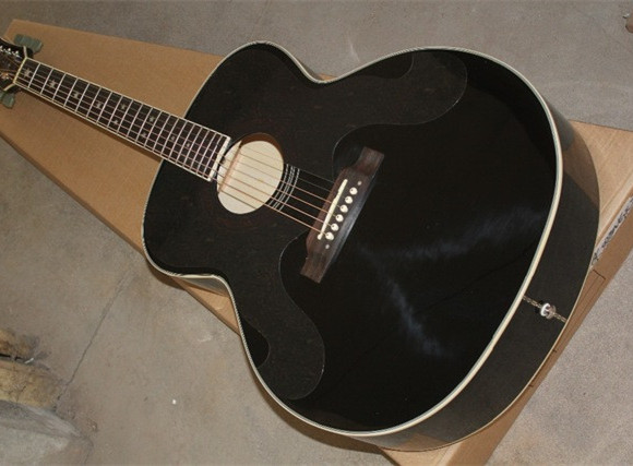 2018 New Factory Chibson G180 acoustic guitar black Billie Joe G180 electric acoustic guitar Free Shipping