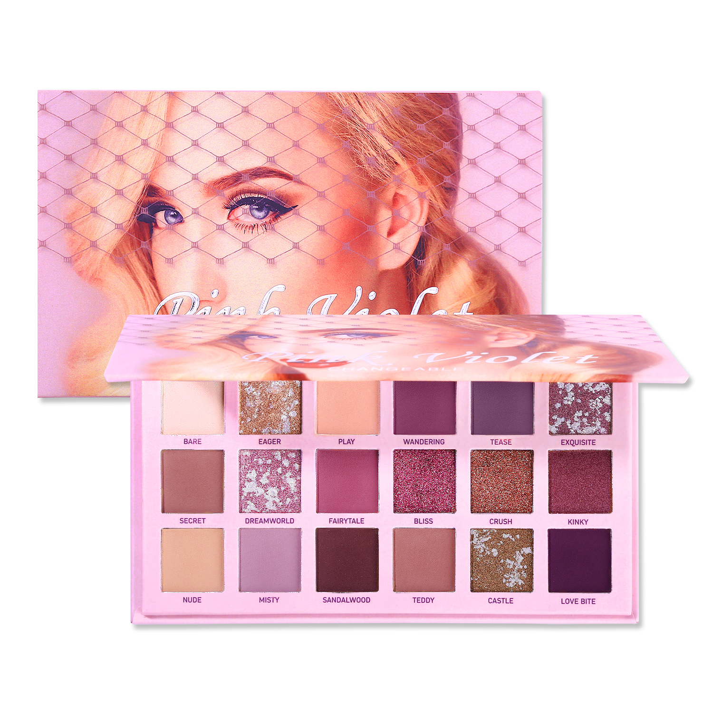 Paleta de sombras de ojos Violetmakeup pigmento Nude 18 colores brillo sombra de ojos mate brillo impermeable cosméticos de larga duración|Sombra de ojos|   - AliExpress