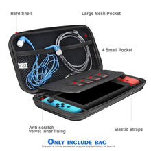 Nintendo Switch Travel Case Hard Protective Carrying Bag With 5 Game Holders