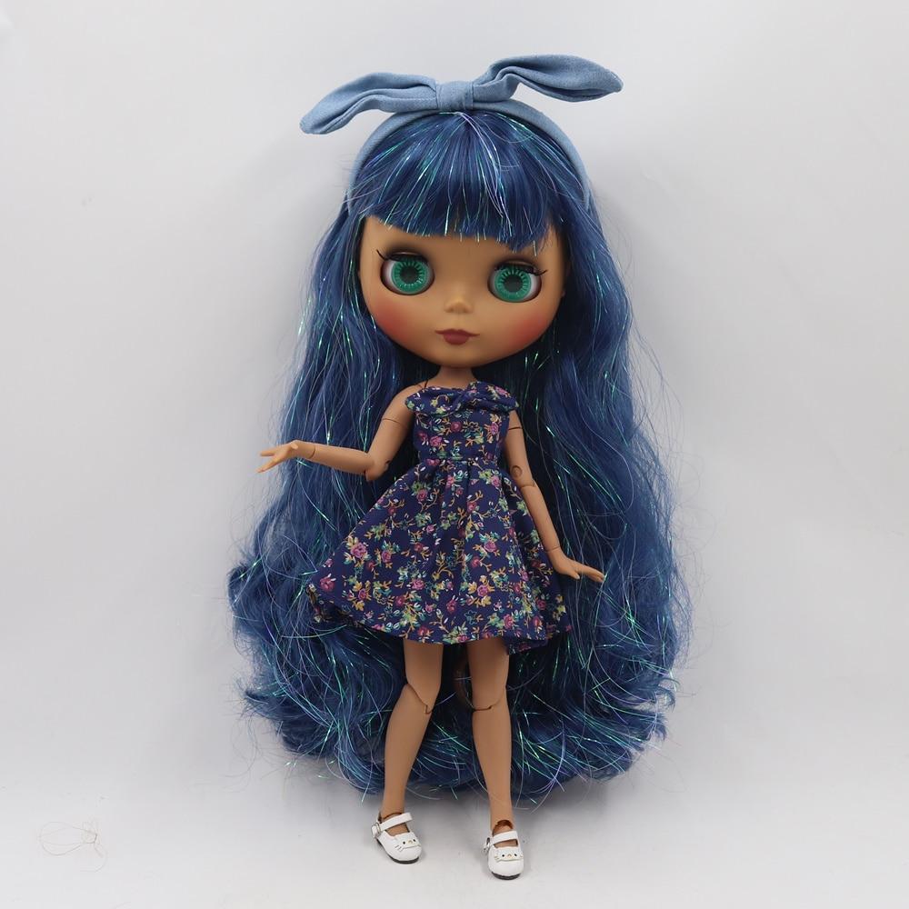 ICY Fortune Days ตุ๊กตาบลายธ์ตุ๊กตาผิว joint body ใหม่ matte face Shiny blue curly ผม DIY sd ของขวัญของเล่น-ใน ตุ๊กตา จาก ของเล่นและงานอดิเรก บน   3