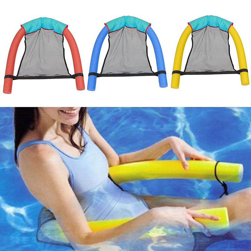 Swimming Pool Toys Floating Chair Kids Bed Seat Noodle Net Water Relaxation Flodable Ring Lightweight Beach Accessories Adult