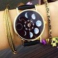 Moda Relógios Mulheres 2017 Reloj Mujer Senhora Lua Padrão Senhoras Relógio Analógico Couro viagens de Esportes Casuais Relógio de Pulso de Quartzo