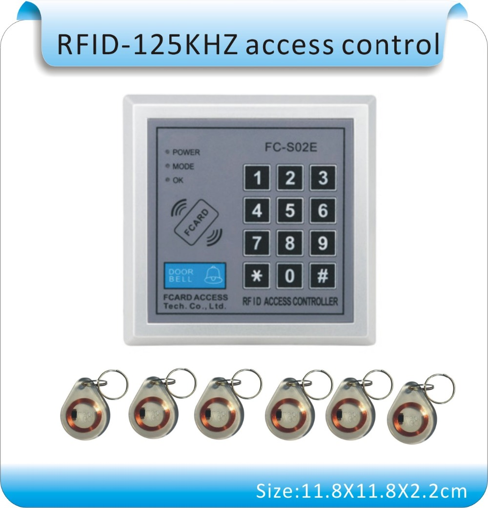 Free shipping High quality FC-S02E RFID Proximity Entry Door Lock Access Control System+10 pcs crystal key card new original ifs204 door proximity switch high quality
