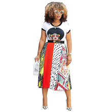 2019 Summer African T Shirt for Women Short Sleeve White T-Shirt Dashiki Casual Printed Tops Plus Size Clothing