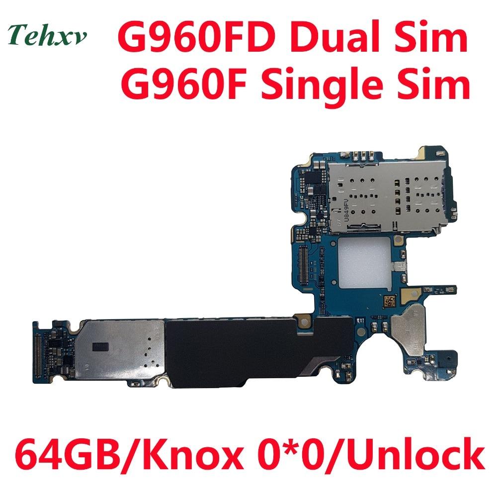 Tehxv 100% Original desbloquear placa base para Samsung Galaxy S9 G960F G960FD Android placa lógica Knox 0*0 6GB RAM 64 GB ROM-in Antena de teléfono móvil from Teléfonos celulares y telecomunicaciones on AliExpress - 11.11_Double 11_Singles' Day 1