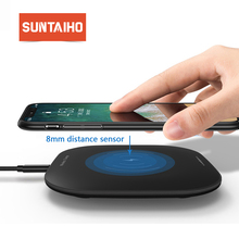 Suntaiho Qi Wireless Charger for iPhone XR XS Max for Huawei mate 20 10W Fast charger Charging pad for Samsung S9+ note9 note8