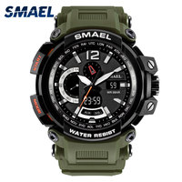 SMAEL New Sport Casual Men Digital Watches Dual Display Dial S Shock Military Army Watch Waterproof